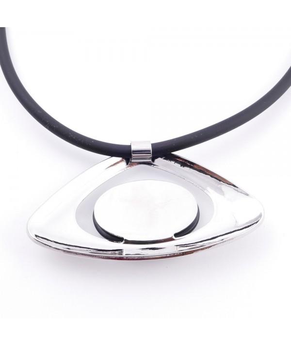 Collar de goma con colgante de metal & ojo de gato